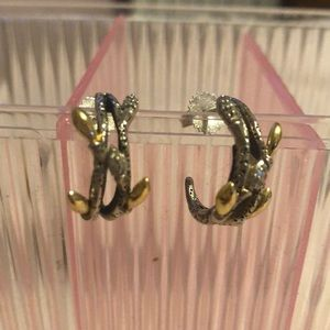 Stephen Dweck diamond branch twig earrings